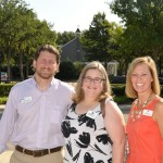 (Left to right) Brooks Quinlan (Hope Cottage Chief Program Officer), Jenny Womack and Julie Hames (Hope Cottage Infant Adoption Director)