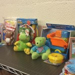 Donated toys and books