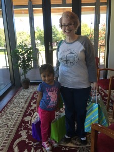 Janie and her daughter delivered all the goodies.