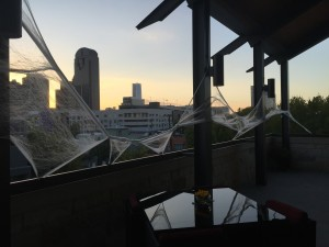 Spooky view from the Dallas Foundation Community Terrace