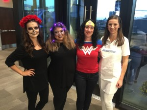Sugar Skull, Constellation, Wonder Woman and Flo from Progressive