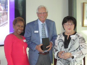 Board President Shannon Hills-Cline (left), Don Potts (center) and Hope Cottage CEO Sonyia Hartwell (right)