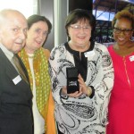 Tom Cornell and Ann Stuart of the Doswell Foundation with Sonyia Hartwell and Shannon Hills-Cline